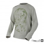Prologic Twin Carp Tatto Tee Long Sleeve Stone